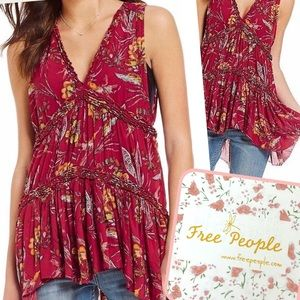 NWT $88 Free People Sleeveless Tiered Tunic M